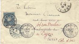 """1910- Enveloppe  De TSURUGA  ( Japan )  Affr. 10 Sen  Pour La France  """" Par Sibérie """" - Japan"""
