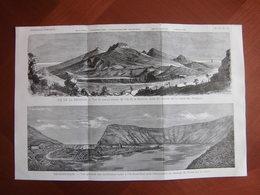 Réunion Et Terres Australes : Très Grande Gravure Dépliante En Deux Parties De 1875 Par Charles Velain - Documenti Storici