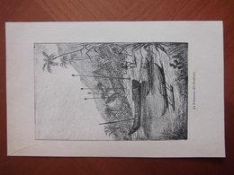 Réunion : Gravure Animée De  1883 Par Charles Buet « La Possession (Ile Bourbon) ». - Documenti Storici