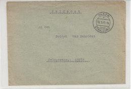 Feldpost Aus PAROW über STRALSUND 16.1.41 - Briefe U. Dokumente
