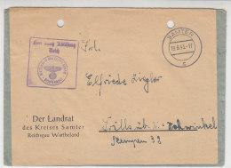 Dienstpost Vom Landrat Des Kreises SAMTER Reichsgau Wartheland 19.8.43 - Deutschland