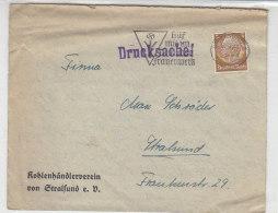Drucksache Vom Kohlenhändlerverein Stralsund 24.9.40 Stempel III.Reich - Briefe U. Dokumente
