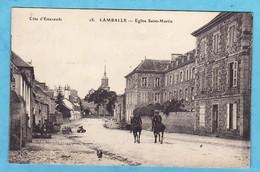 LAMBALLE Gendarmes Rue Saint Martin ( INFIMES ET TRES LEGERE TRACES DANS LE CIEL SINON Très Très Bon état ) --220 )9) - Lamballe
