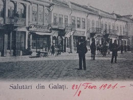 Romania Roumanie - GALATI - 1901 LITHO - Shop Fronts In Strada Mare - Rumänien