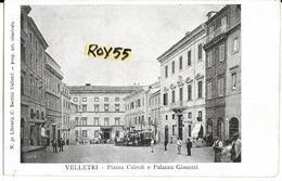 Lazio-velletri  Veduta Piazza Cairoli Primi 900 Animatissima (no/viagg.) - Velletri