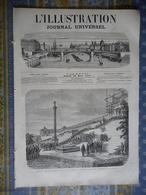 L ILLUSTRATION 30/03/1872 GENES MAZZINI H REGNAULT ARTISTE PEINTRE MODES PARIS LE BON MARCHE STRASBOURG PORTE NATIONALE - 1850 - 1899