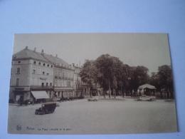 Arlon //  La Place Léopold Et Le Parc - Hôtel Concordia - Belle Animation Avec Automobile 19?? - Aarlen