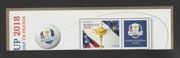FRANCE / 2018 / Y&T N° ?2018/07 ** : Ryder Cup (avec Vignette + Logo) Du Bloc-feuillet - Gomme D'origine Intacte - Frankrijk