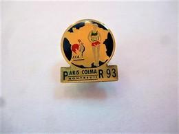 PINS  ATHLETISME MARCHE PARIS MONTREUIL COLMAR  93 FFA COQ Et CARTE DE FRANCE / 33NAT - Athletics