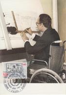 Carte  Maximum  1er  Jour   FRANCE   Année  Internationale  Des  Personnes  Handicapées    1981 - Cartes-Maximum