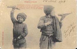 1er Avril Poisson D'Avril Et Petits Ramoneurs, Poème - Carte Bergeret 1908 - 1er Avril - Poisson D'avril