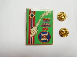 Superbe Big Pin's , Association Lions Club , MD 104 Norway - Associations