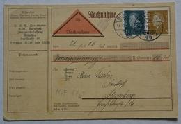 DR Nachnahme/Quittung (Reichsmark Aus 1929 Siehe Scan(LS38 - 1900 – 1949