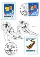 [MD2014] CPM - SESTRIERE '97 CAMPIONATI MONDIALI DI SCI ALPINO - RIPRODUZIONE FRANCOBOLLO - CON ANNULLO 1.2.1997 - NV - Wintersport