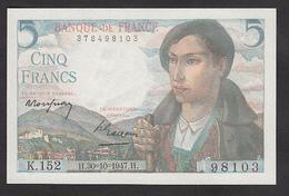 5 Francs Berger - Fay: 5/7 Du 30-10-1947 En Neuf - Voir Descriptif - 1871-1952 Anciens Francs Circulés Au XXème