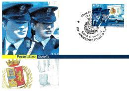 [MD2027] CPM - POLIZIA DI STATO - 150° ANNIVERSARIO DELLA ISTITUZIONE - POSTE ITALIANE - CON ANNULLO 12.4.2002 - NV - Polizia – Gendarmeria