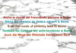 [MD2030] CPM - ANCHE LE STRADE DEL FRANCOBOLLO PORTANO A ROMA - CON ANNULLO 26.10.1985 - NV - Cartoline