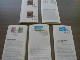 BELG.1991 2398-99 & 2400-01 & 2402-03 & 2404 & 2405 Zegels Met Eerstedag Stempel Op 5 NL Folders - FDC