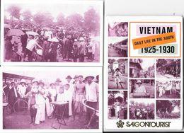 Viet-Nam 1925-1930 - Daily Life In The South - Pochette De 10 Cartes (reproductions) - Viêt-Nam