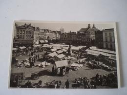 's Hertogenbosch (Den Bosch) Fotokaart Markt Tijdens Marktdag 19?? - 's-Hertogenbosch