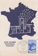 Carte  Maximum  1er  Jour   FRANCE     JEUNE  CHAMBRE  ECONOMIQUE   FRANCAISE    1977 - Cartes-Maximum