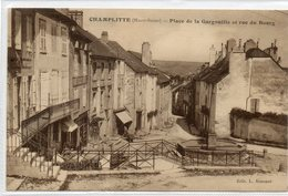 70  CHAMPLITTE     Place De La Gargouille Et Rue Du Bourg - Francia