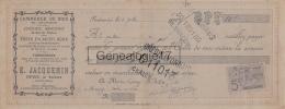 70 168 FONTENOIS Par MONTBOZON HAUTE SAONE 1909 Commerce De Bois Charbon E. JACQUEMIN Epicerie Charbon à LAPRAY De BUXY - Cambiali