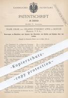 Original Patent - Frank Chase , Orlando Ethelbert Lewis , Boston , USA , 1886 , Spannen Von Leder Am Stiefel , Schuh !! - Documenti Storici