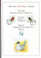 Belgie Andre Buzin Birds 3011 2351 Herdenkingskaart A4 Expo Buzin 2002 + Signature Andre Buzin  RR! - 1985-.. Pájaros (Buzin)