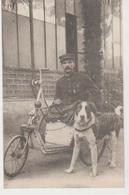 Militaria Soldat Amputé Sur Fauteuil Roulant Chien à Ses Côtés - Oorlog 1914-18