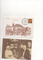 Nan0033 Carte Double  Centenaire De La Mort Du Maréchal LYAUTEY 1984 - Château De THOREY + Carte Postale éditée 1988 - Personajes