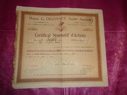 Maison G.DIGONNET (1925) LYON-RHONE - Actions & Titres