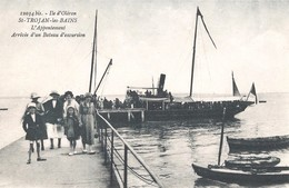 SAINT TROJAN Les BAINS -  L'appontement De La Petite Plage - Arrivée D'un Bateau D'excursion - Ile D'Oléron