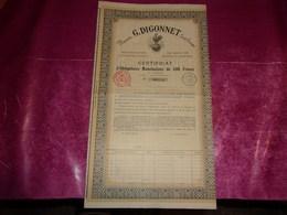 Maison G.DIGONNET (1926) LYON-RHONE - Actions & Titres
