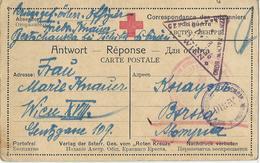 CARTE REPONSE 1916- OFFICIER AUTRICHIEN PRISONNIER DE GUERRE EN SIBERIE- - Lettres & Documents