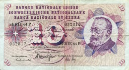 Switzerland 10 Franken, P-45p (5.1.1970) Fine - Switzerland