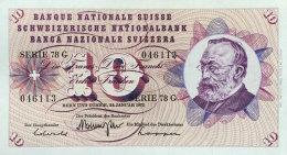 Switzerland 10 Franken, P-45r (24.1.1972) UNC - Switzerland
