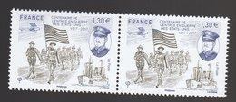 France 2017 - Y & T - N° 5156 -  Centenaire De L'Entrée En Guerre Des Etats-Unis - (2 X 1,30€) - Neufs
