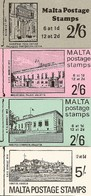 MALTA, 1970, Booklet 1/4, Complete Set Of 4 Booklets - Malta