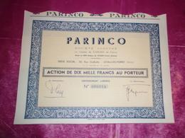 PARINCO (levallois-perret) - Actions & Titres