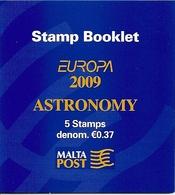 MALTA, 2009 Booklet 13, Europa 2009, Astronomy - Malta