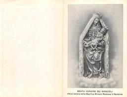 """08039 """"(VARESE) SARONNO - BEATA VERGINE DEI MIRACOLI"""" 1923-FOTO PREV. PARR. MONS. CARLO CROCI. PIEGHEVOLE ORIG. - Religione & Esoterismo"""