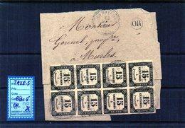 TAXE N°3 Bloc De 8 + Caché OR Sur Fragment - Marcophilie (Lettres)