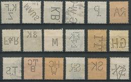1933 - 18 Diverse SCHWEIZ Perfins Inklusive Stehende Helvetia - Sammlungen