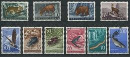 1934 - 1954 Jugoslawische Fauna - Tiere Wunderschöne Marken Der Courvoisier S.A. Druckerei - 1945-1992 Sozialistische Föderative Republik Jugoslawien