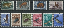 1934 - 1954 Jugoslawische Fauna - Tiere Wunderschöne Marken Der Courvoisier S.A. Druckerei - 1945-1992 République Fédérative Populaire De Yougoslavie