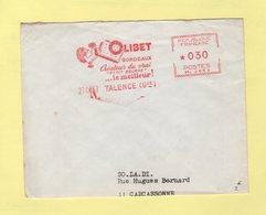 EMA - Machine M - Olibet Bordeaux - Createur Du Vrai Petit Beurre - Talence - 1967 - Marcophilie (Lettres)