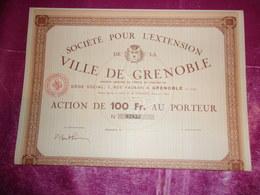 Société Pour L'EXTENSION De La VILLE DE GRENOBLE - Actions & Titres
