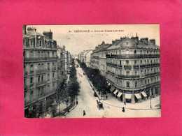 38 Isère, Grenoble, Avenue Alsace-Lorraine, Animée, Calèche, 1922, (P. Gaude) - Grenoble