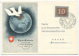 1937 - 1945 Tag Der Briefmarke Sonderkarte - Pro Juventute